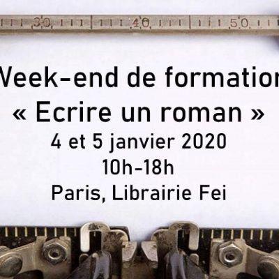 Week-end de formation  lcriture du roman