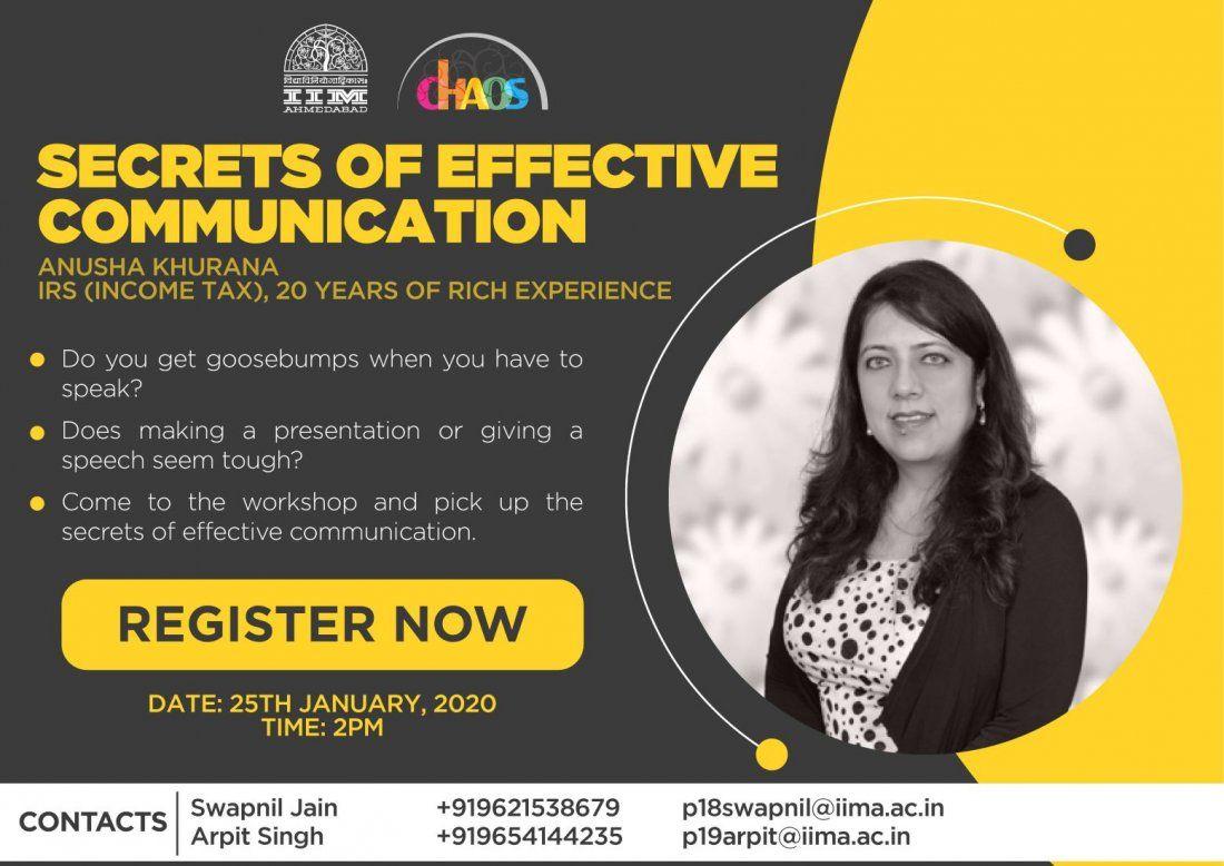 Secrets of Effective Communication by Anusha Khurana