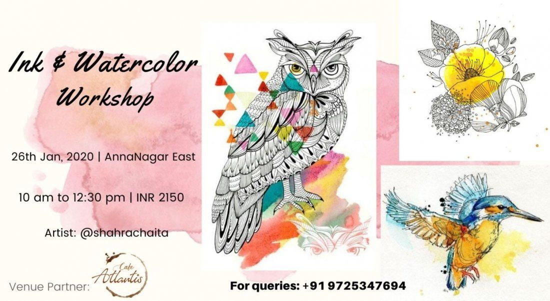 Ink & Watercolor Illustration Workshop Chennai