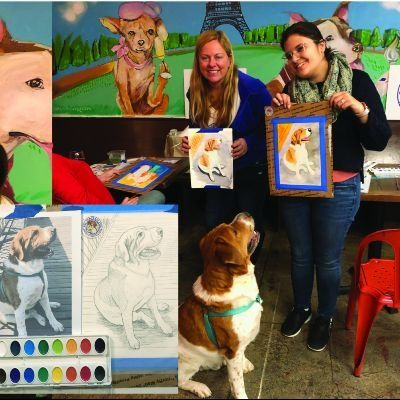 Paint and Sip Pet Portrait Fun-Yappy Hour NEW YORK