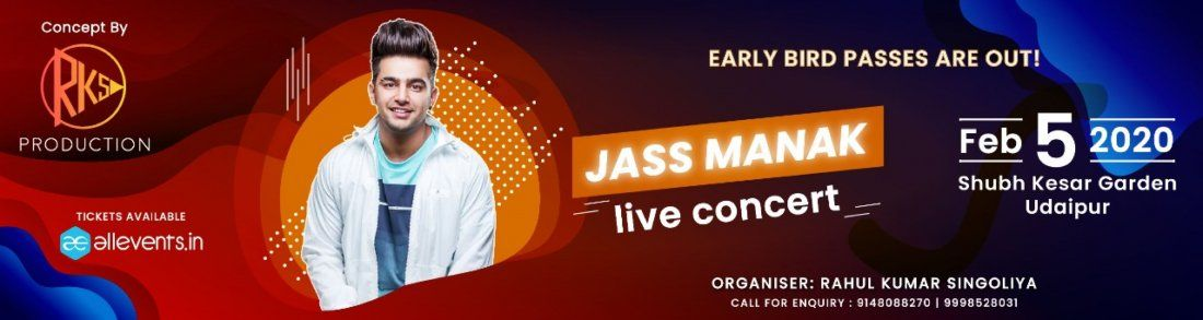 JASS MANAK Live Concert at Udaipur