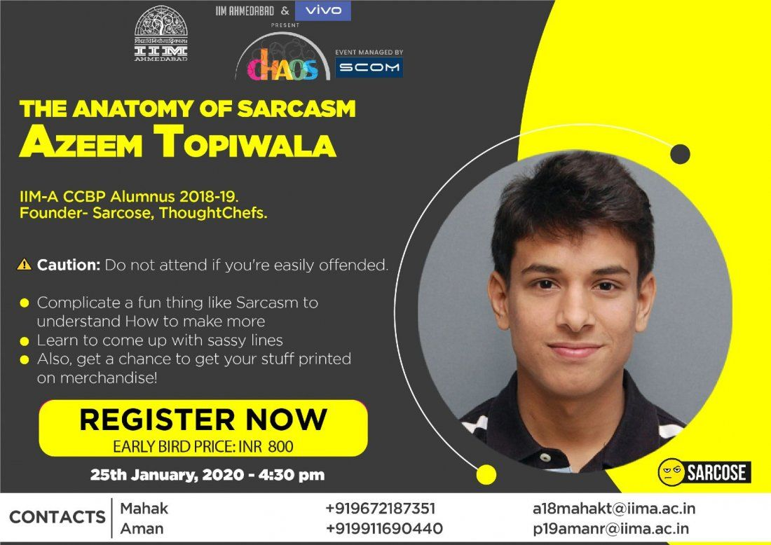 The Anatomy of Sarcasm by Azeem Topiwala