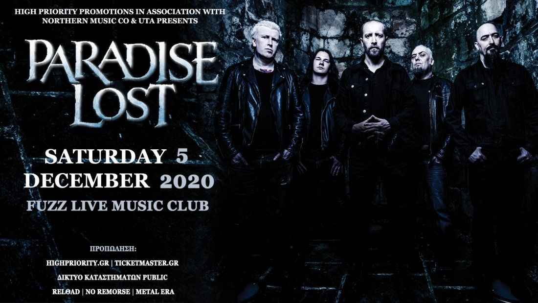 Paradise Lost - Athens, 5 December | Event in Athens | AllEvents.in