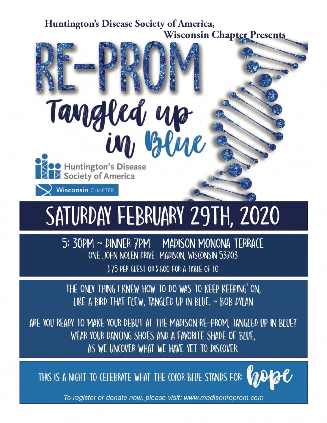 Madison Re-Prom Tangled Up in Blue