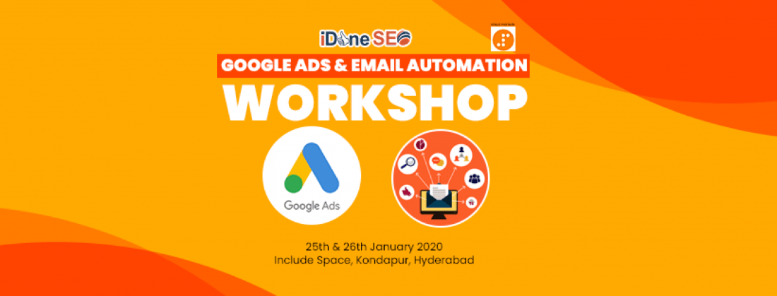 2 Workshops - Google Ads and Email Automation
