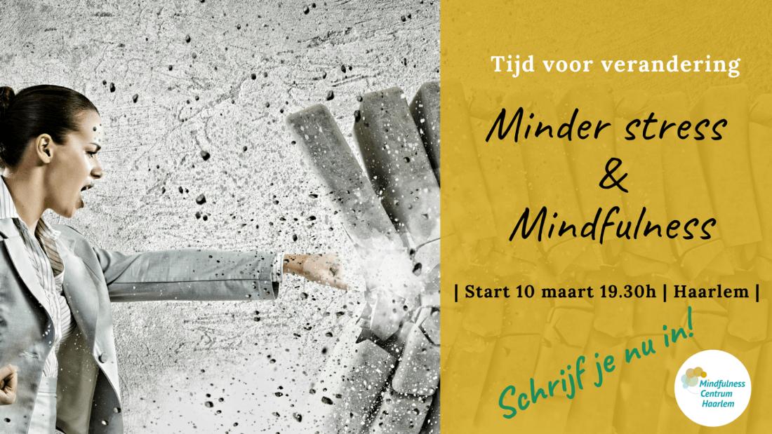 Minder stress & Mindfulness start 10 maart Haarlem