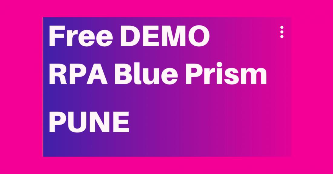 FREE DEMO  Cognitive RPA Blue Prism   8 Feb 20  12 30 PM  Kharadi Pune  EmergenTeck