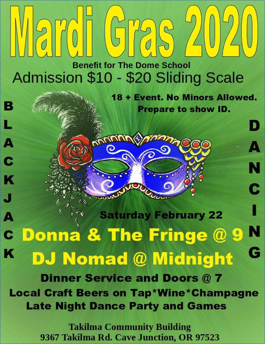 Mardi Gras 2020 A Dome School Benefit