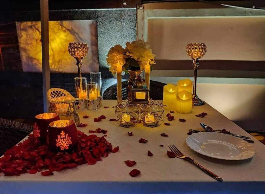 Rooftop Candle Light Dinner Valentine Suprise