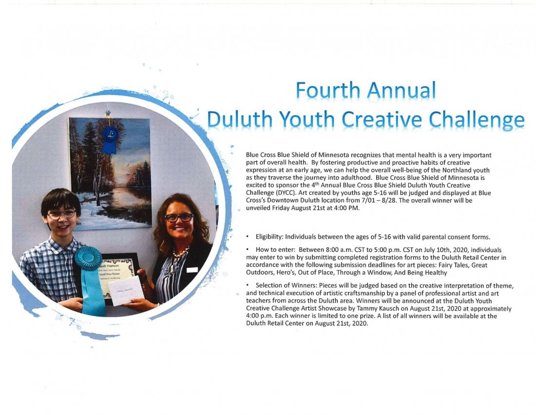 Duluth Youth Creative Challenge (DYCC)
