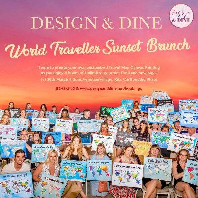 Design & Dine - World Traveller Sunset Brunch