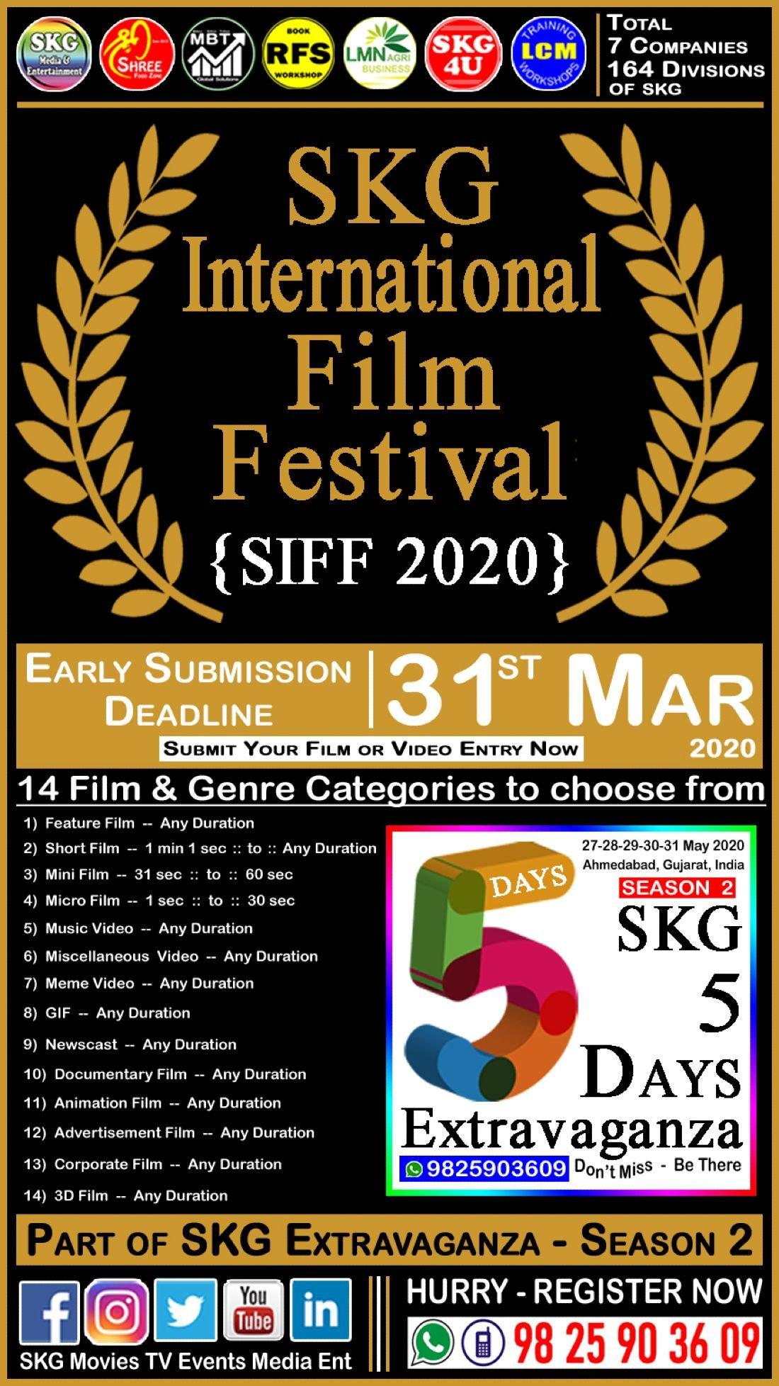 SIFF 2020 - SKG International Film Festival