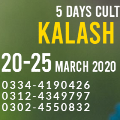 5 Days Cultural Tour to Kalash Valley (20-25 March 2020)