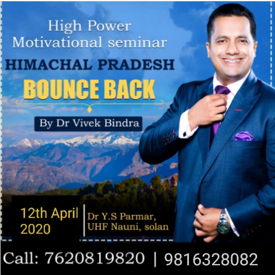 Bounce Back Himachal Pradesh by Dr. Vivek Bindra