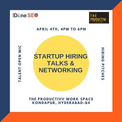 Startup Hiring Talks & Networking