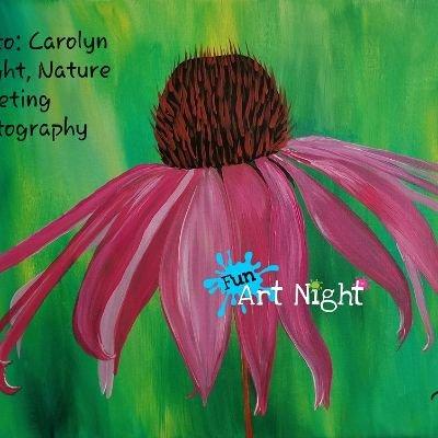 Fun Art Night Home Pink Lady