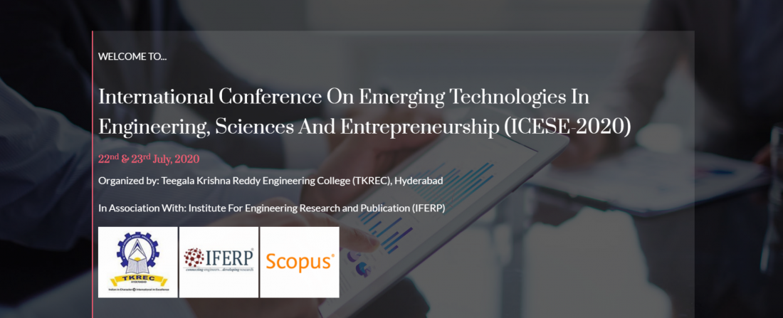International Conference on emerging technologies in Engineering Sciences and Entrepreneurship