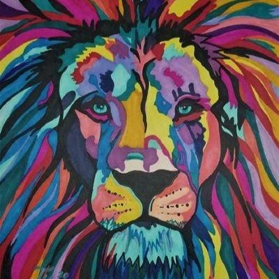 Fun Art Night Home Lion of Judah