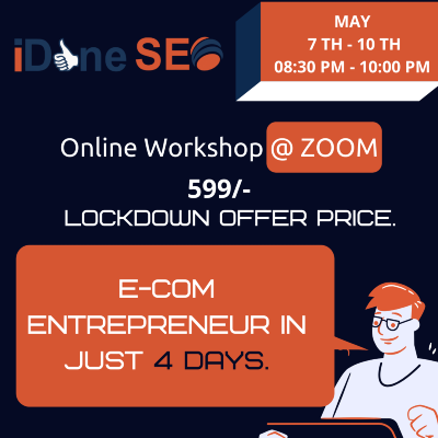E-com Entrepreneur in just 4 days - Online workshop