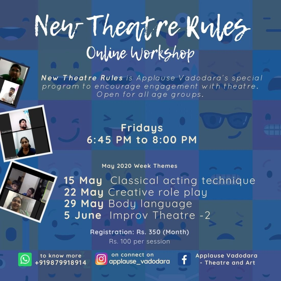 New Theatre Rules - Online Theatre Workshop