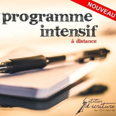 Ecrire - Programme intensif  distance