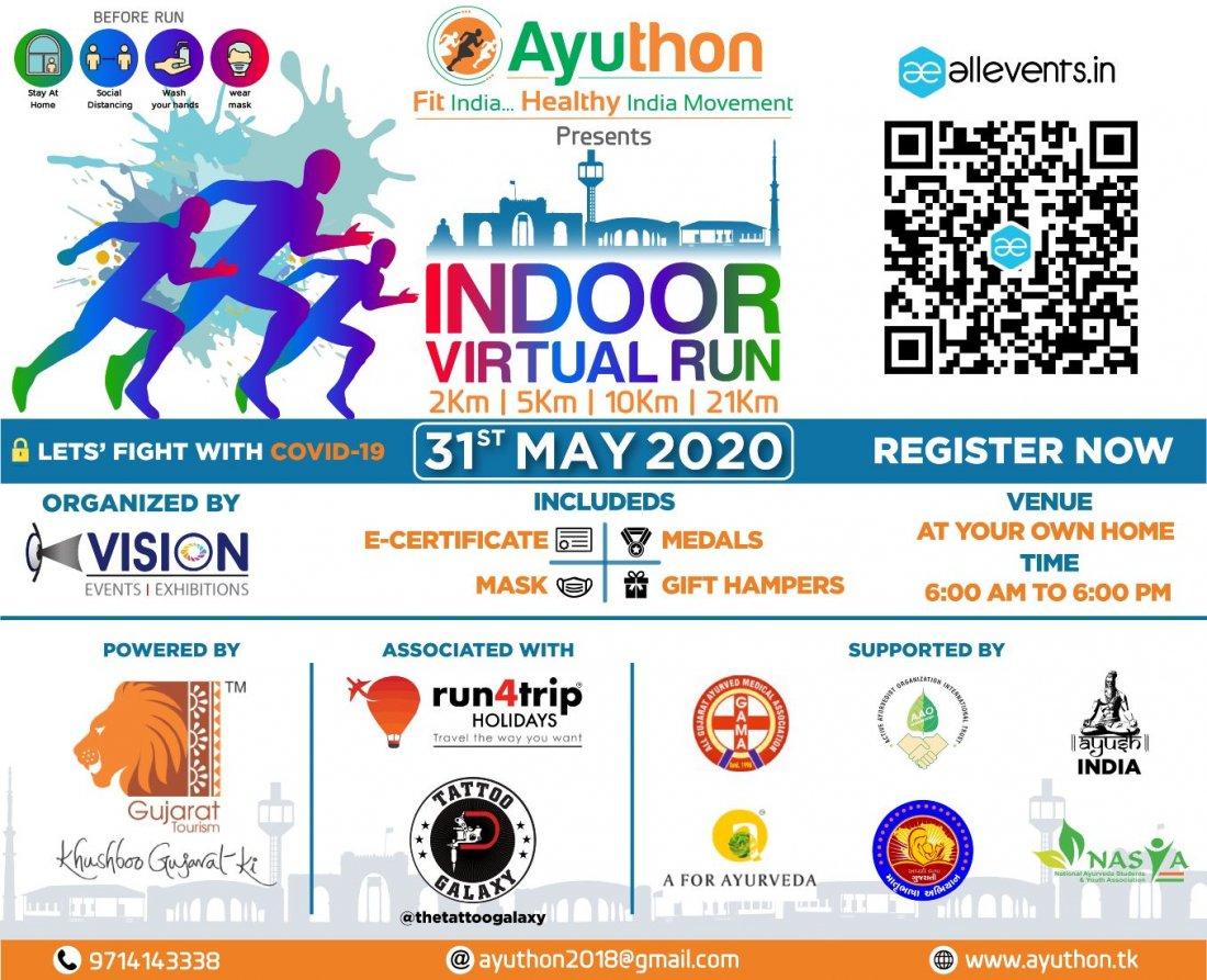 Ayuthon Presents INDOOR VIRTUAL RUN 2020