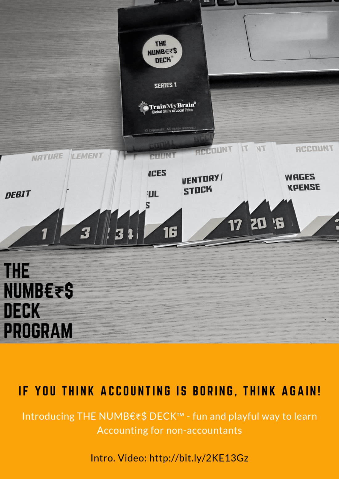 Accounting for Non-Accountants made playful using deck of 52 cards