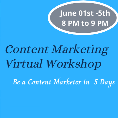 Content Marketing Virtual Workshop