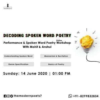 Decoding Spoken Word Poetry I Online Spoken Word Poetry Workshop