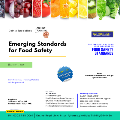Emerging Standards for Food Safety
