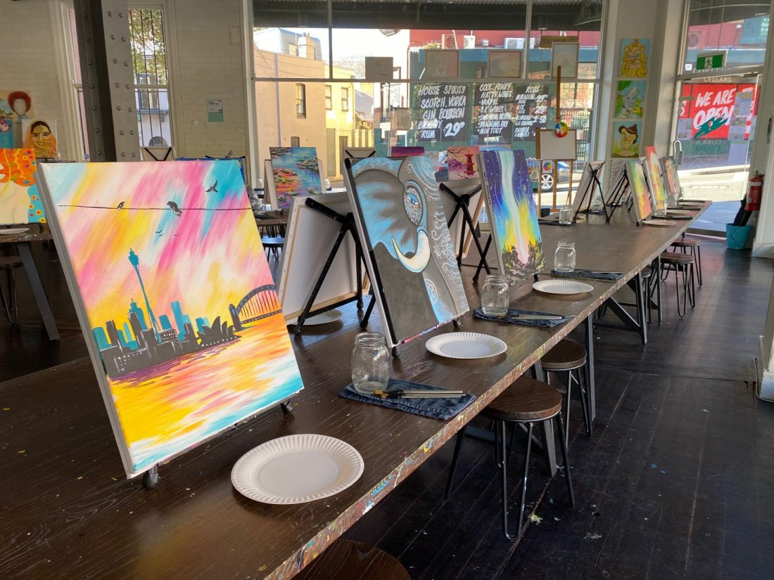 Cork and Canvas Reopens with New Paintings
