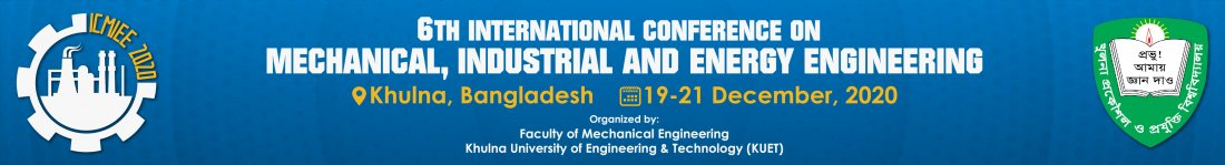 6th International Conference on Mechanical Industrial & Energy Engineering, 19 December | Event in Khulna
