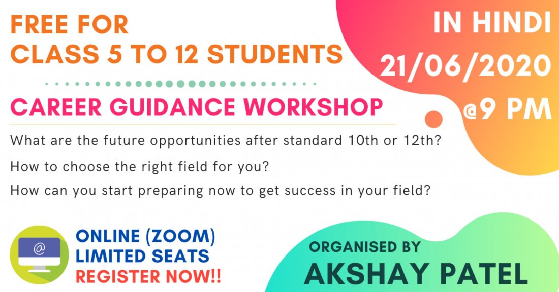 Free Career Guidance Workshop On Allevents In Online Events