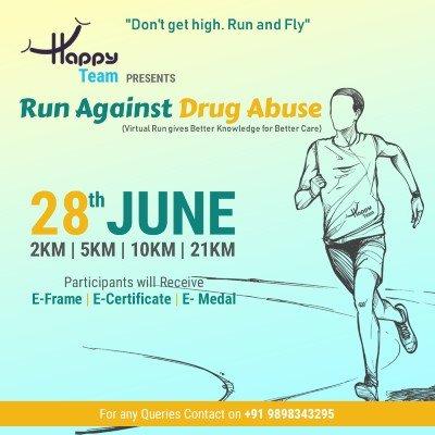 Run Against Drug Abuse Virtual Run Challenge