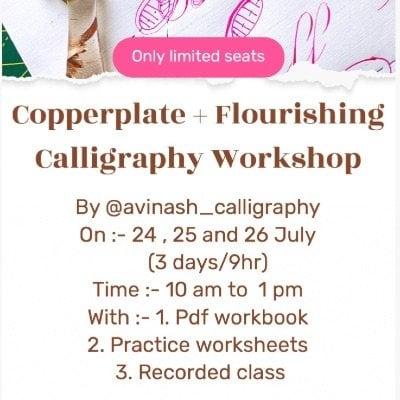 Copperplate Flourishing workshop