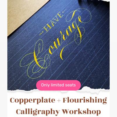 Copperplate Plus Flourishing calligraphy workshop