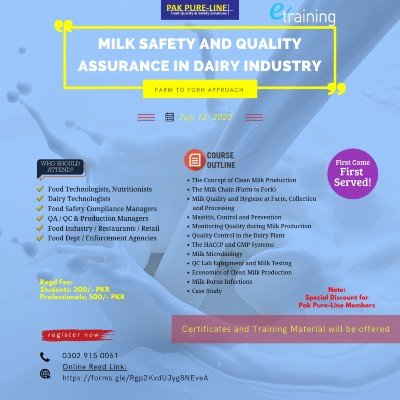 Milk Safety and Quality Assurance in Dairy Industry (Farm to Fork Approach)
