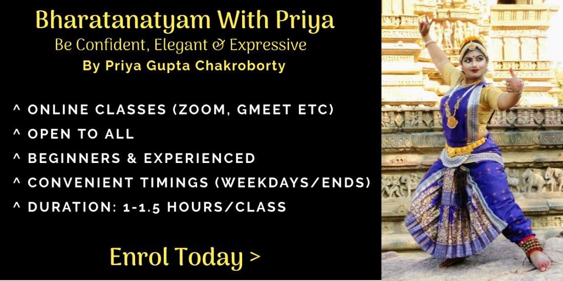 Bharatanatyam With Priya / Online Classes by Priya Gupta Chakroborty, 1 December | Online Event | AllEvents.in