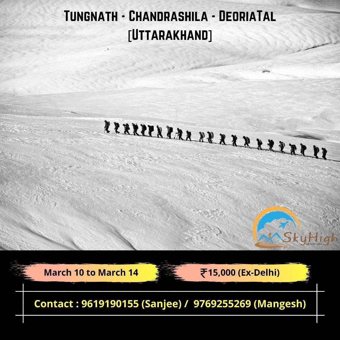 Snow Trek to Tungnath - Chandrashila - Deoriatal, 10 March | Event in Chopta | AllEvents.in
