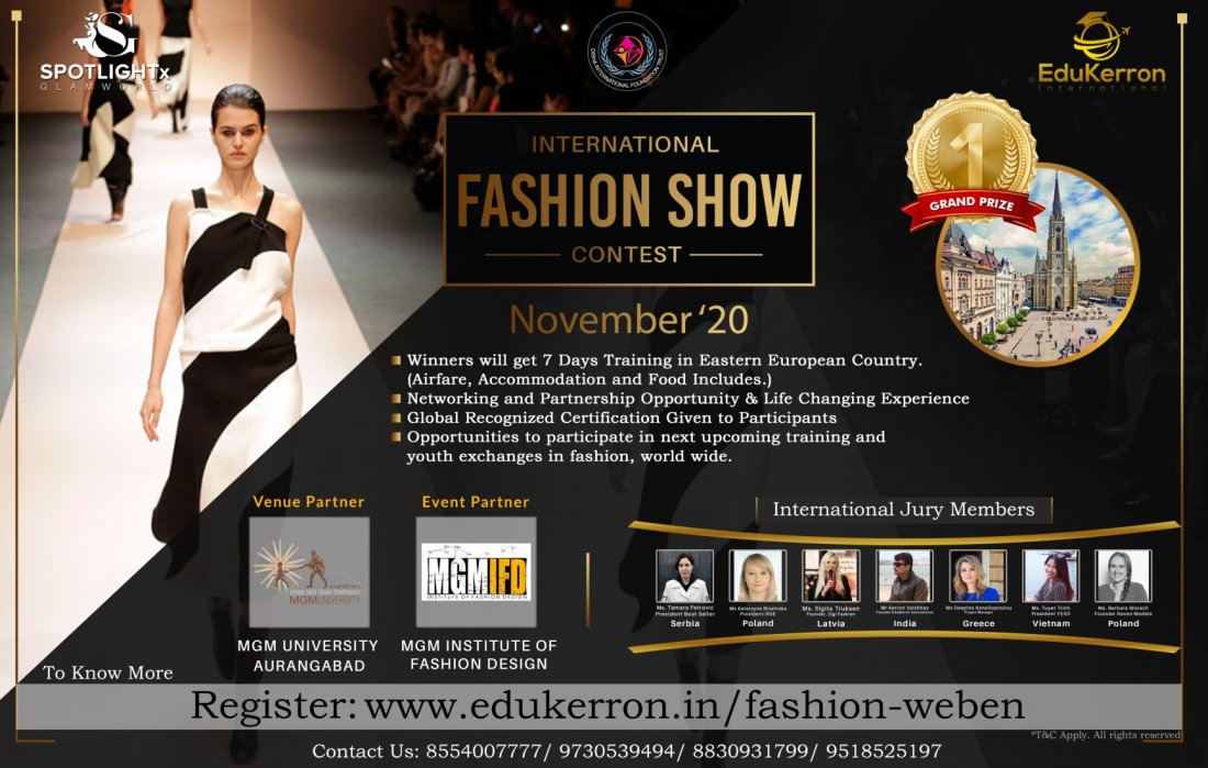 International Fashion Show Weben Aurangabad Tickets Available