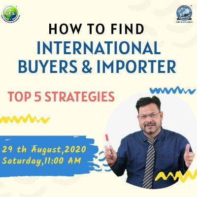 """FREE Webinar on &quotHow to FIND International BUYERS & IMPORTERS"""""""