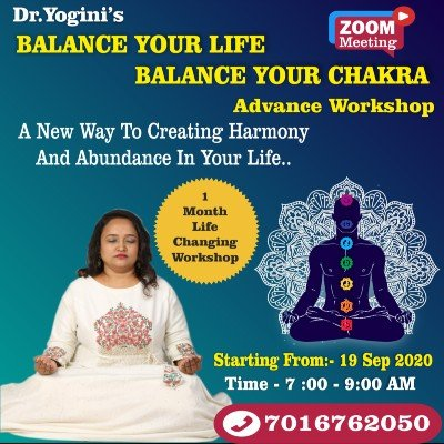Dr.Yoginis Balance Your Life Balance Your Chakra Advance Workshop