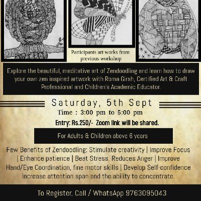 Zendoodle Art Workshop