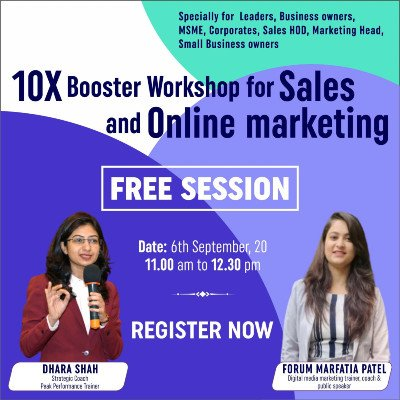 10X booster workshop for sales and online marketing