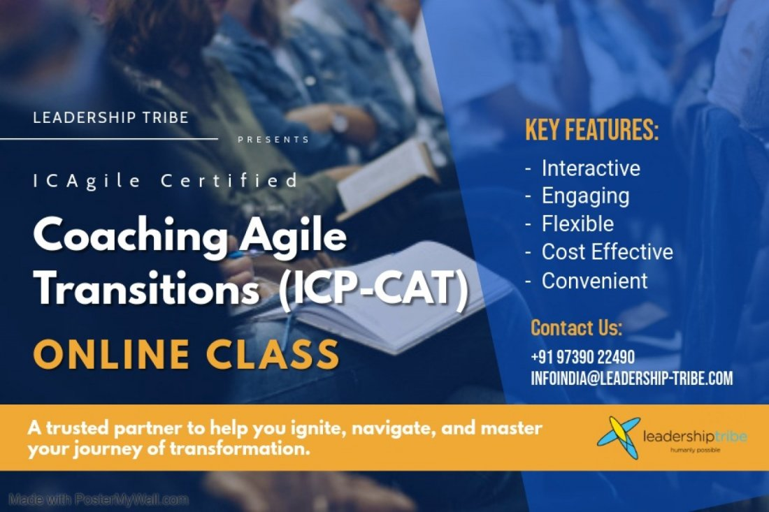Coaching Agile Transitions (ICP-CAT) | Virtual - March - Part Time, 8 February | Online Event | AllEvents.in
