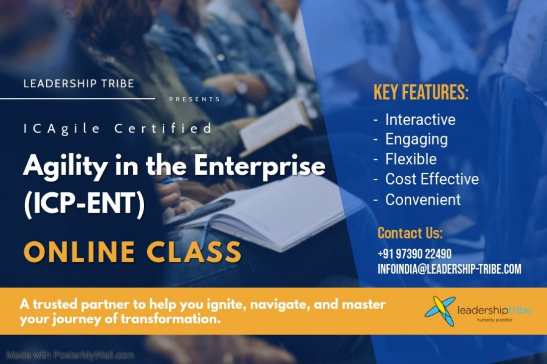 Agility in the Enterprise (ICP-ENT)   Virtual Classes - December 2020, 7 December   Online Event   AllEvents.in