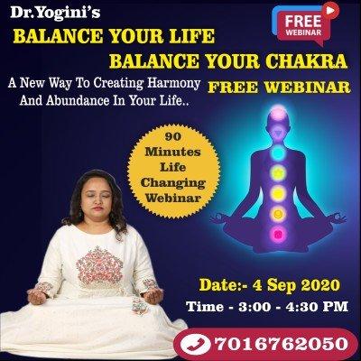 Dr.Yoginis Balance Your Life Balance Your Chakra Free masterclass