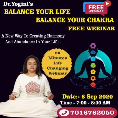 Dr.Yoginis Balance Your life Balance Your Chakra Workshop
