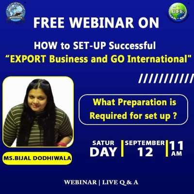 """FREE Webinar on &quotHOW to SET-UP Successful EXPORT Business and GO International"""""""