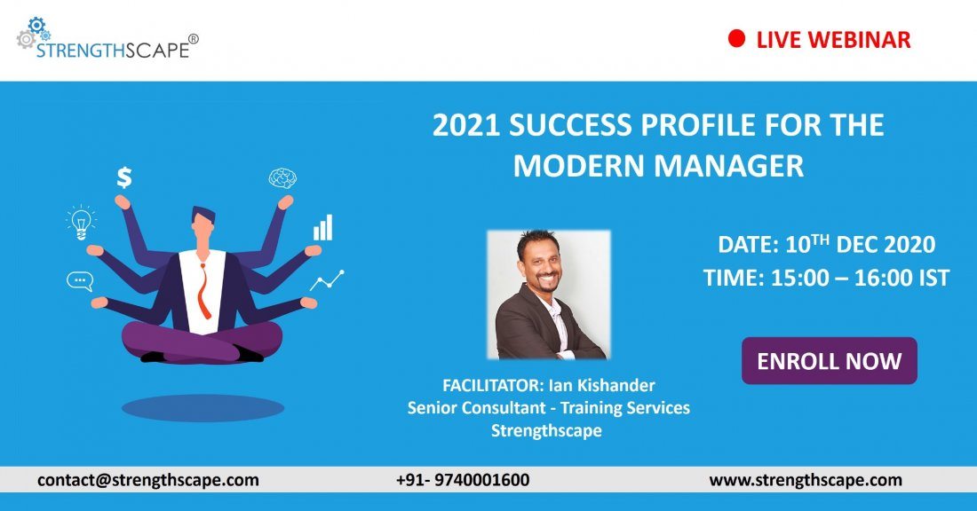 [Free Webinar] 2021 Success Profile for The Modern Manager, 10 December | Online Event | AllEvents.in